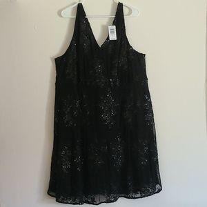 TORRID Black Sequin Formal Skater Dress